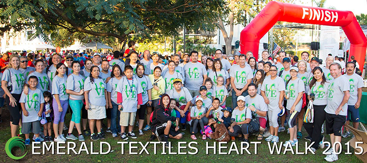 Tom Gildred at Emerald Textile's Heart Walk 2015